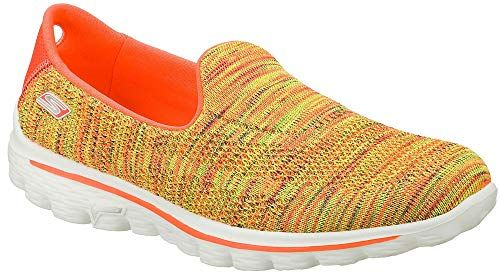 22308746f2a7 Skechers Performance Womens Go Walk 2 Hypo Walking ShoeYellow Multi6.5 M US