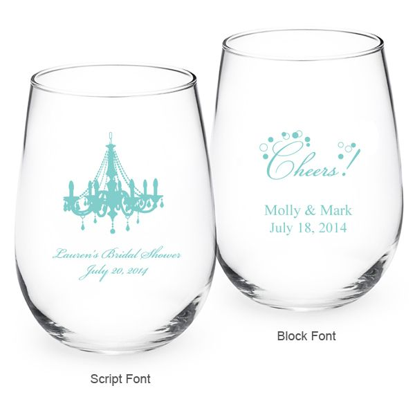 Tiffany Blue Personalized Stemless Wine Glass - Exclusive ...