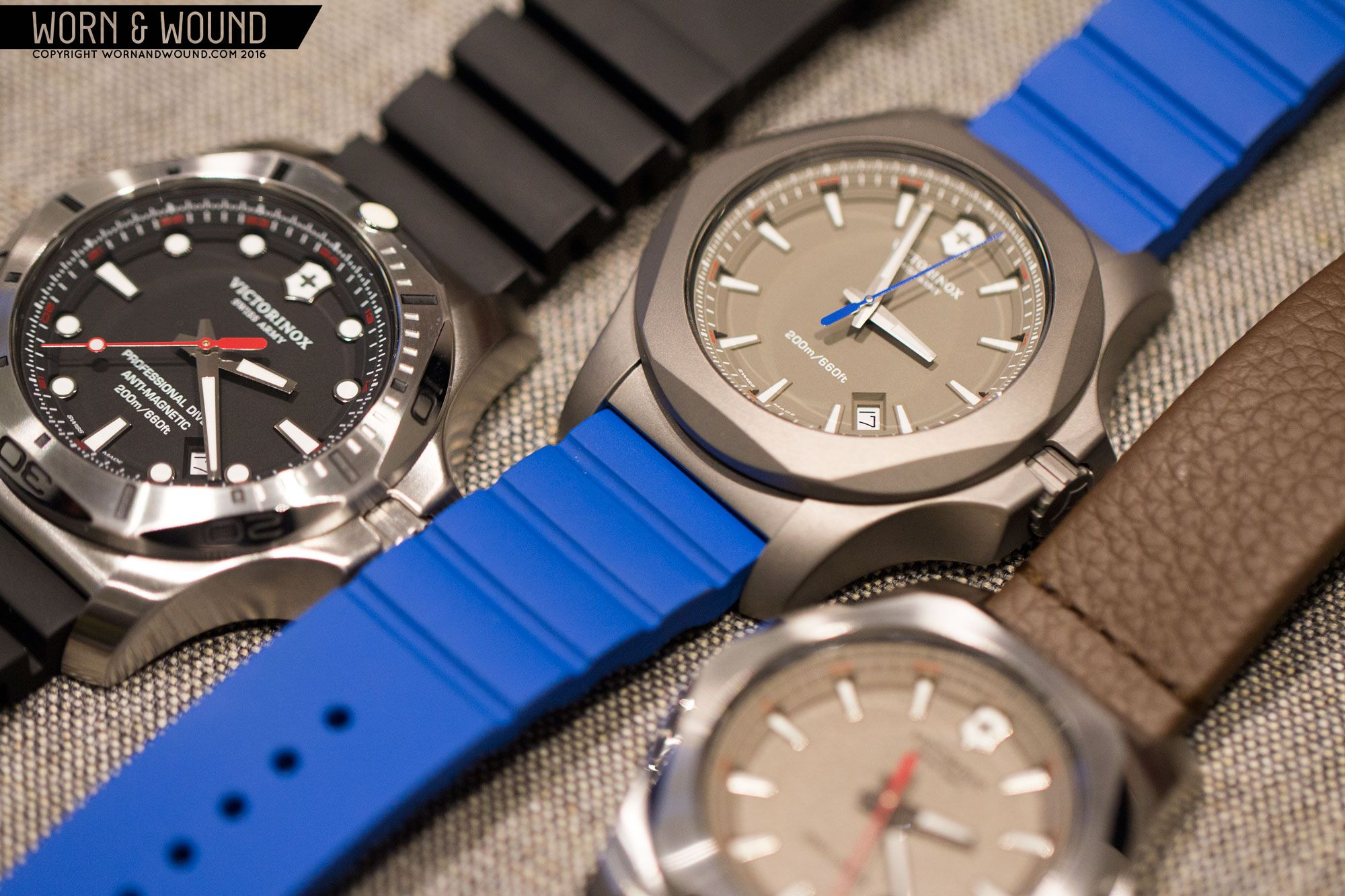 Live from Baselworld - @wornandwound makes a new I.N.O.X. line-up including the new I.N.O.X. Pro Diver, I.N.O.X. Leather and I.N.O.X. Titanium styles. #INOXWatch