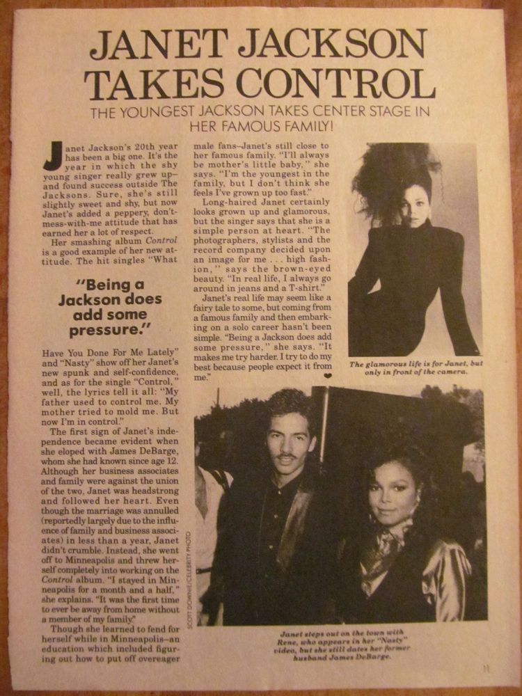 Janet Jackson, Full Page Vintage Clipping