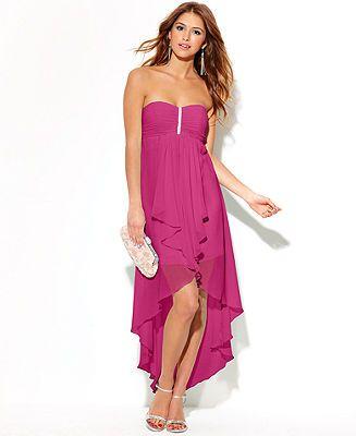 Speechless Juniors Dress, Spaghetti-Strap Sequin High-Low ...
