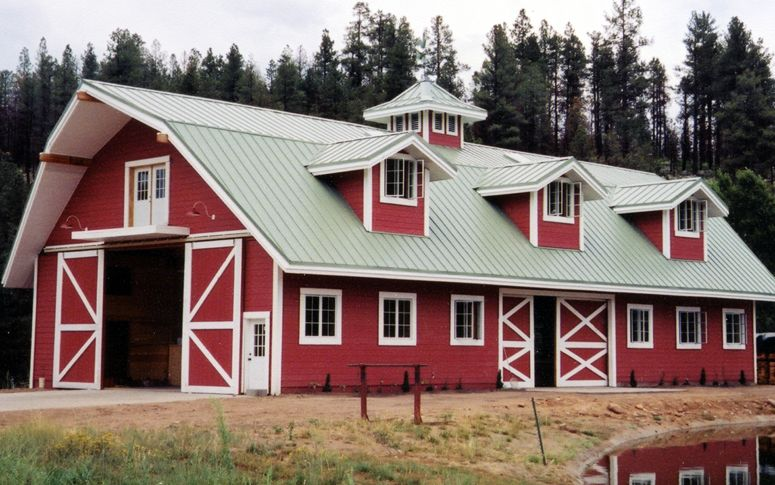 Best Red Barn With Gray Metal Roof And White Windows Http 400 x 300