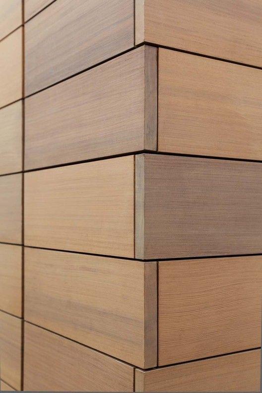 Revestimiento de madera para muros exteriores