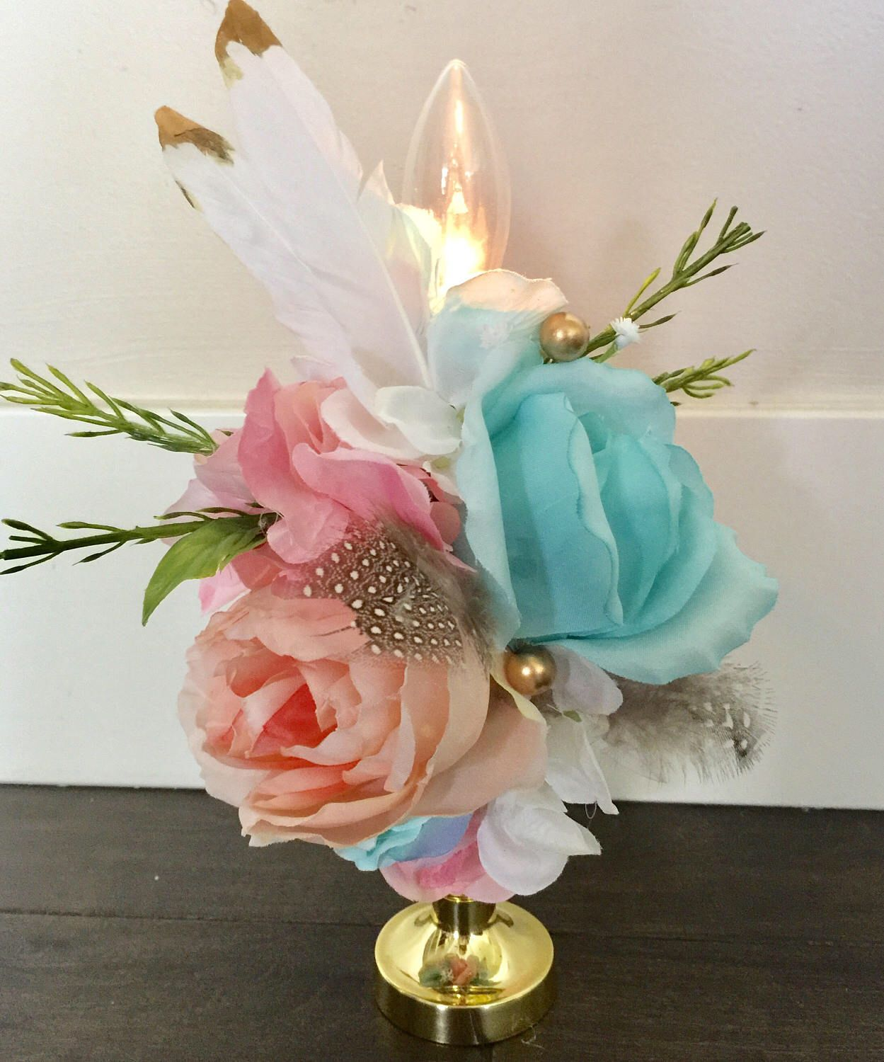 Boho Baby Shower Centerpieces ~ Boho lighted centerpiece pow wow weddding baby shower