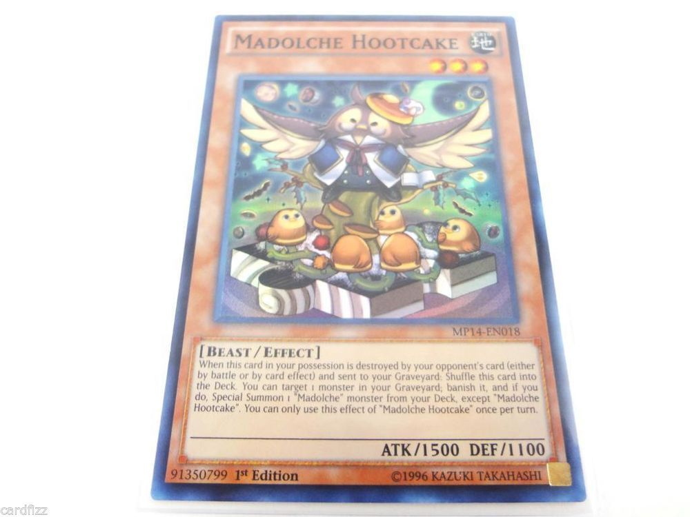 Yugioh Madolche Hootcake MP14-EN018 Super Rare 1st Edition