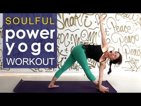 48minssoulful power yoga workout  youtube with images