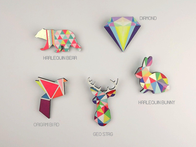 c938907118b Stag Brooch Pin Boutonniere Geometric | imaginary closet | Shrink ...