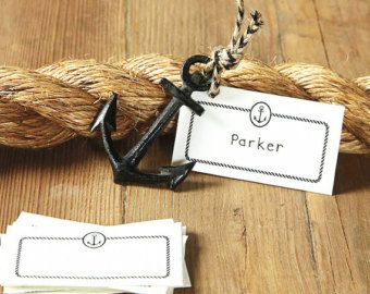 Black Nautical Wedding Theme -  Black is back! Want to find matching nautical wedding favors at discounted prices? Shop www.EventDazzle.com