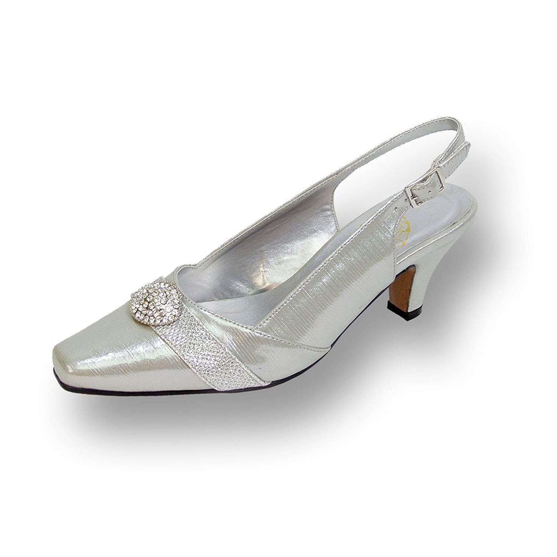 Floral Fic Eva Women Wide Width Slingback Dress Pump For Wedding Prom Dinner 28size 2fmeasurement Guide Evening Dress Shoes Floral Shoes Womens Shoes Pumps