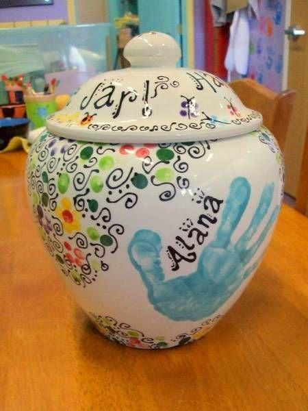 Cookie Jar Hand Print Ccsa Photo Share Cookie Jars Diy Ceramic Cookie Jar Painted Jars