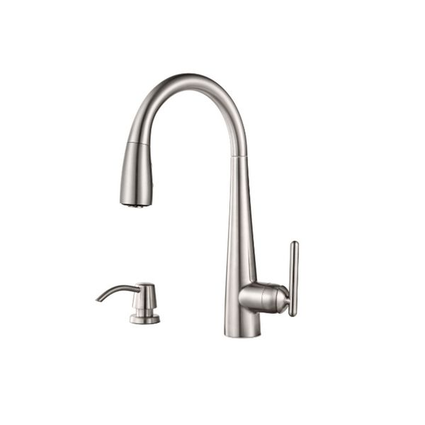 Pfister Lita Pull-down Kitchen Faucet Stainless - Overstock ...