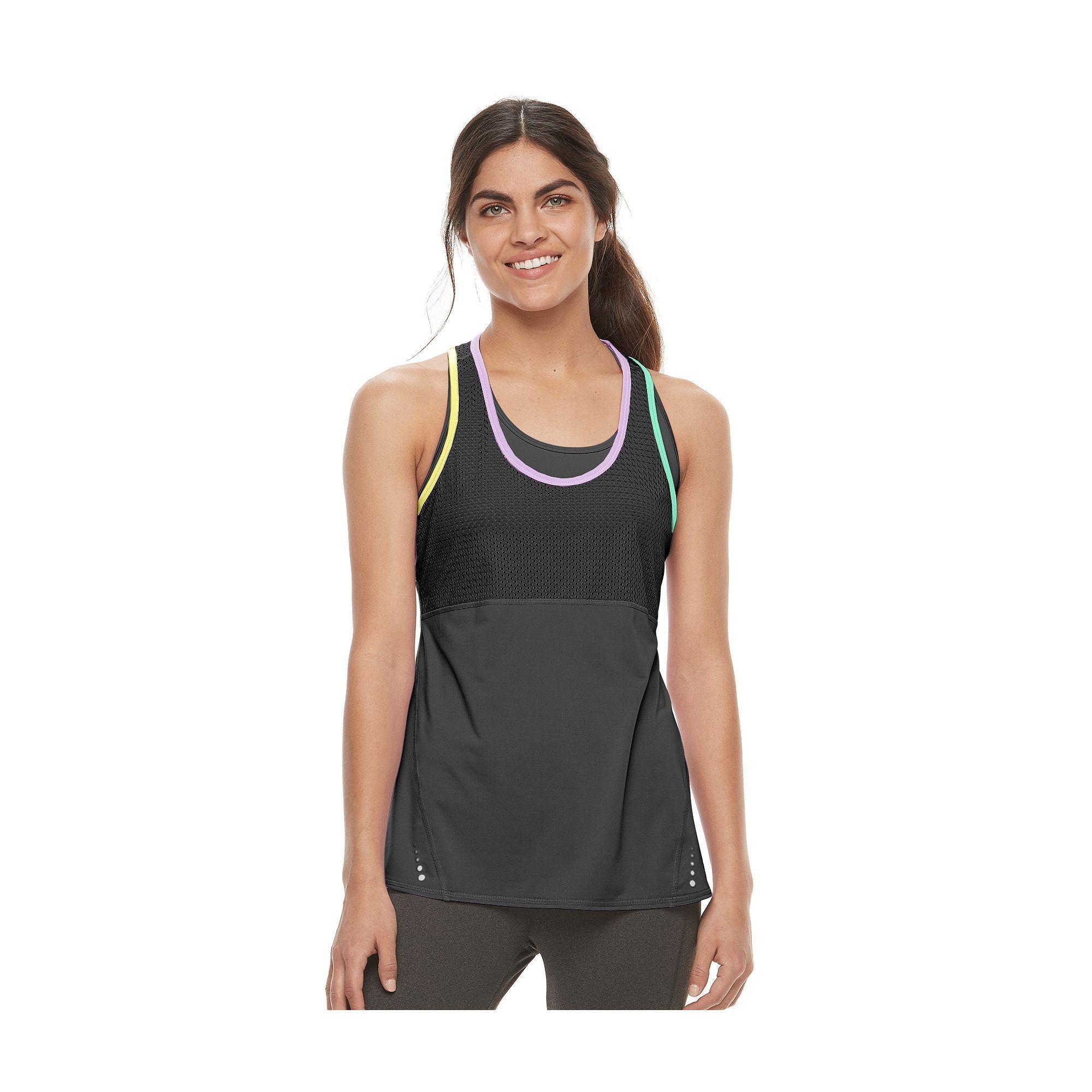 Women's FILA SPORT® 2in1 Sports Bra & Mesh Tank Women