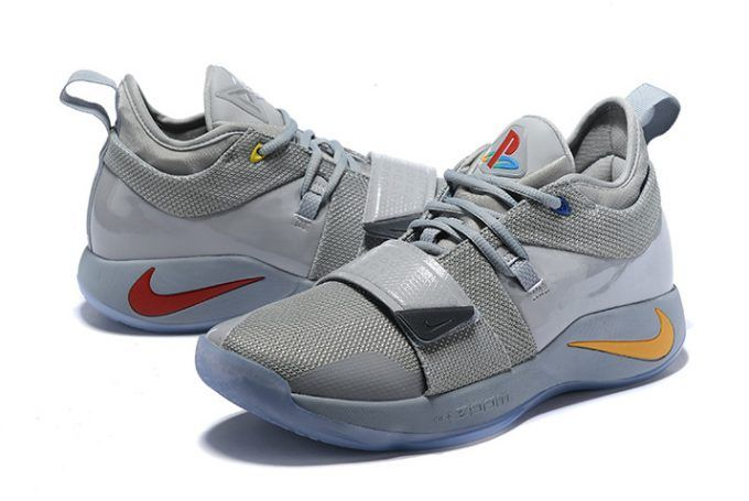 new product 2f4fd bee35 Nike PG 2.5 Wolf Grey Multi-Color PE Basketball Shoes-3