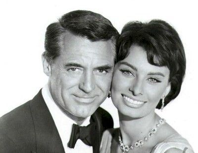 Cary Grant with Sophia Loren--''Houseboat'' (1958).