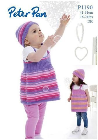 185212a487e7 Wendy Peter Pan P1190 Striped Pinafore Dress and Hat uses Peter Pan ...