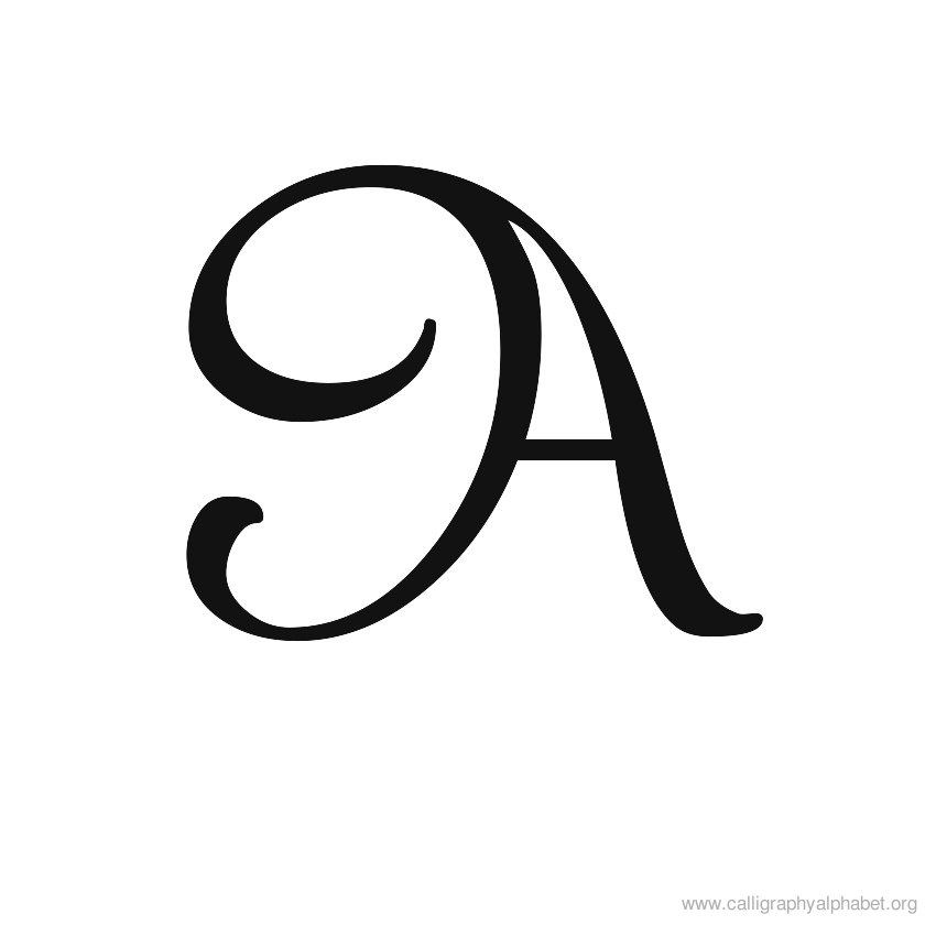 The letter a in calligraphy google search initials