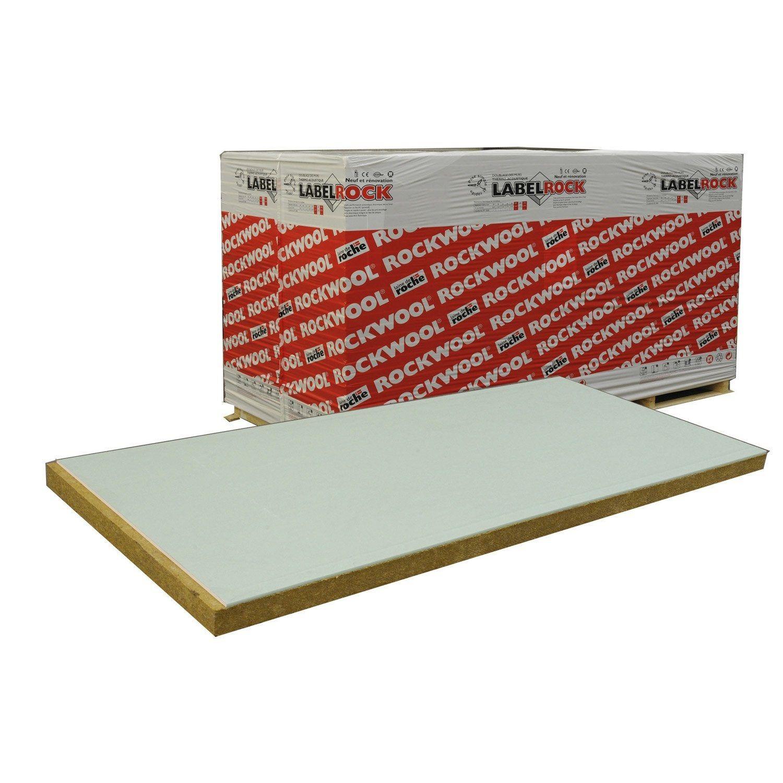 Doublage En Laine De Roche Labelrock Hydro Rockwool 2 6x1 2m Ep 53mm R 1 2 Laine De Roche Laine Et Bois Leroy Merlin