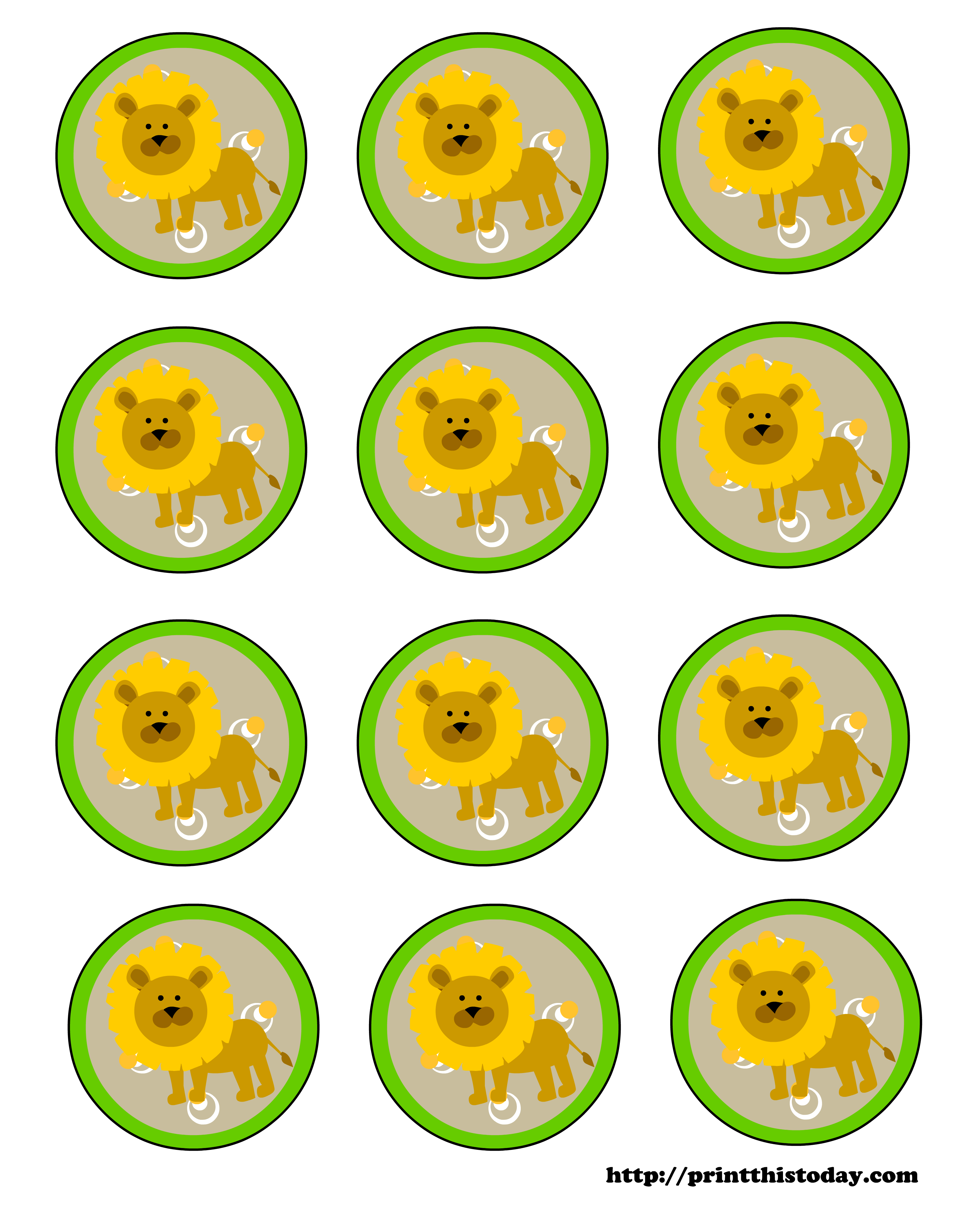 Baby Lion Labels