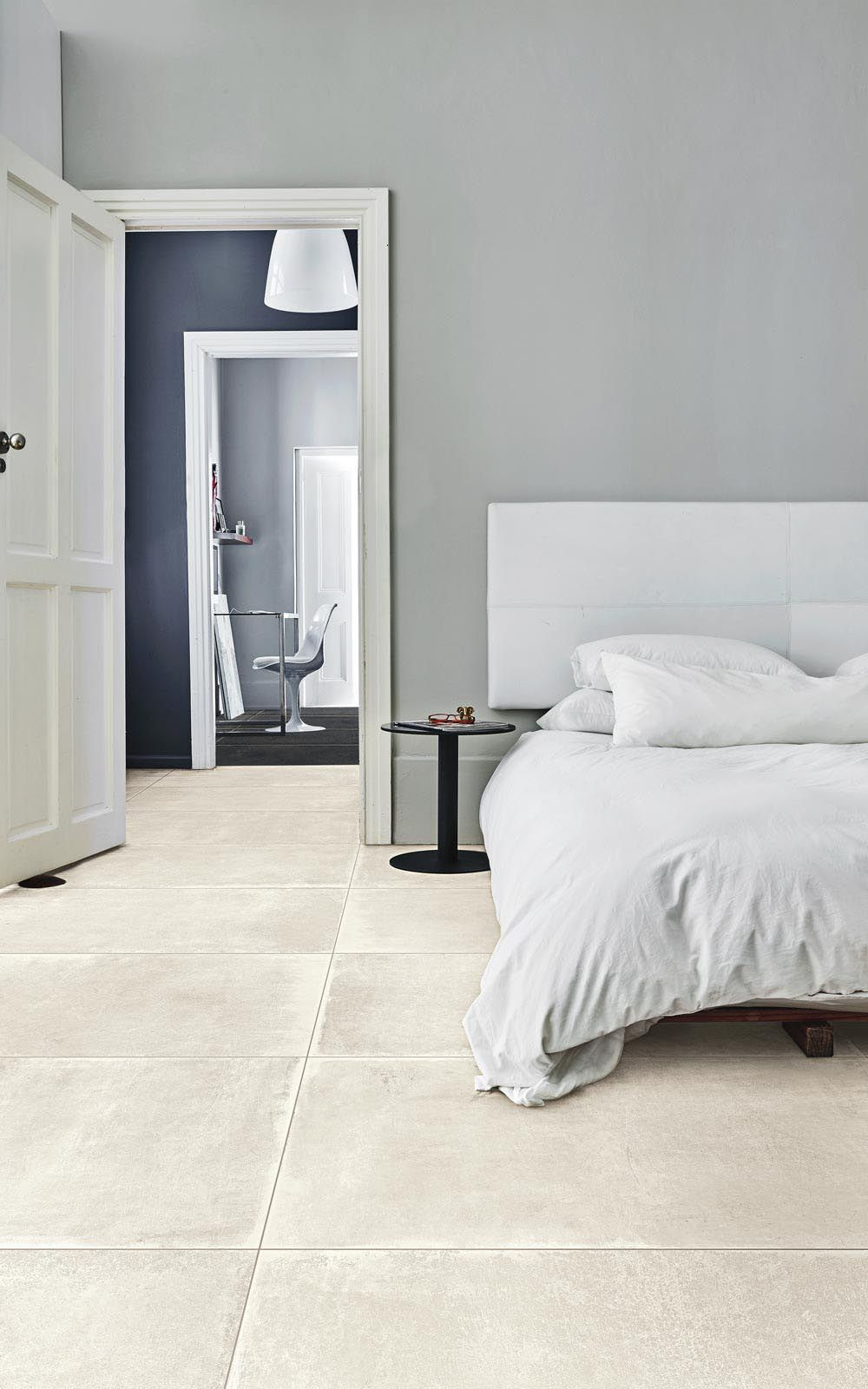 Walkway Scratched Concrete Look Porcelain Tiles Creative Materials Bedroom Floor Tiles Bedroom Design Bedroom Flooring