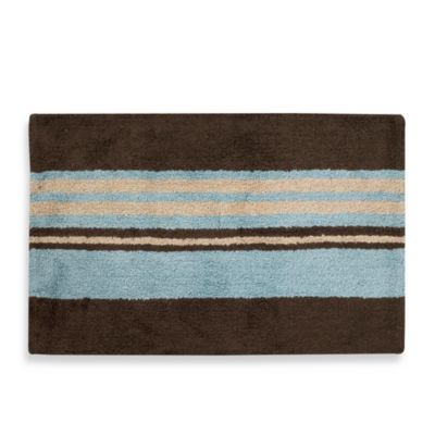 Brown and blue bathroom rugs roselawnlutheran for Chocolate brown bathroom rugs