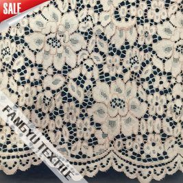 Popular High Quality White Flower Lace Fabric
