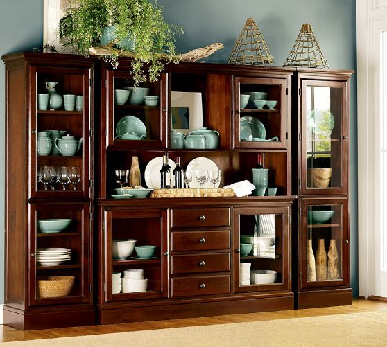 Dining Room Wall Unit tucker wall unit | pottery barn | dream home | pinterest | shelves