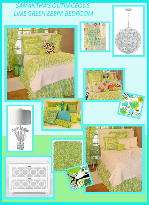 Lime Green Zebra Bedroom | Sweet And Sour Kids Blog