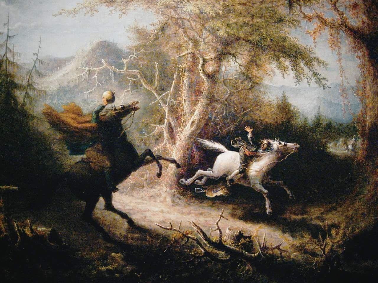The Headless Horseman Pursuing Ichabod Crane John Quidor