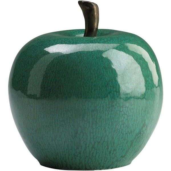Cyan Design Jade Ceramic Apple ($14) ❤ Liked On Polyvore Featuring Home, Home  Decor, Decor, Fillers, Other, Props, Cyan Design, Apple Home Decor, Cu2026