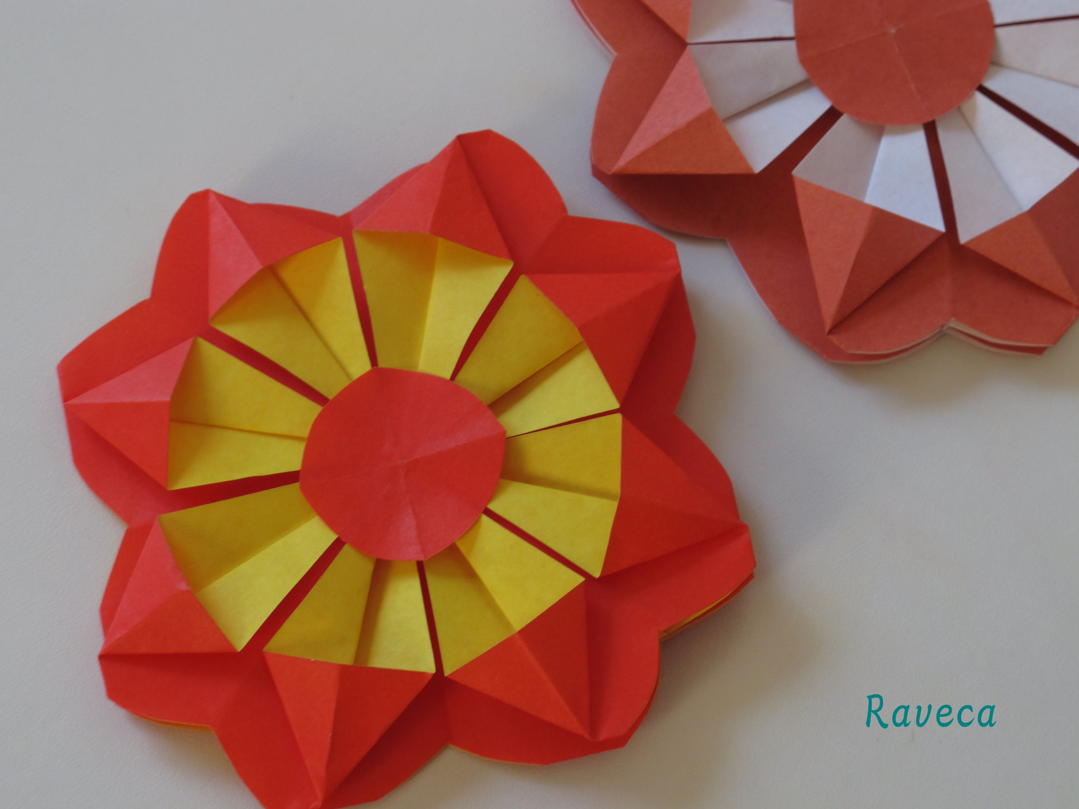 Origami Flower Floare Video Origami Pinterest Origami