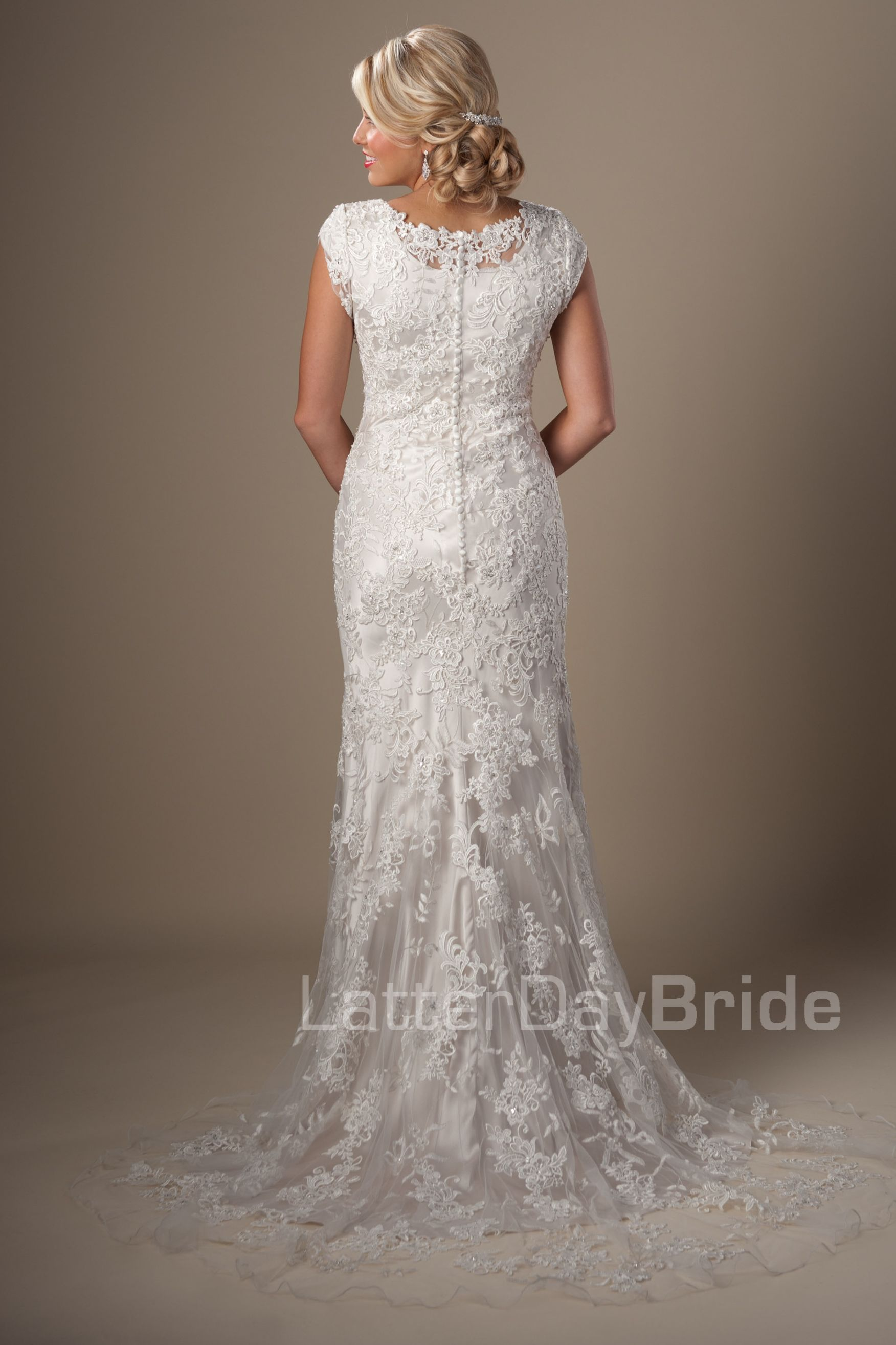 Modest Wedding Dresses : Zinnia. Latter Day Bride, Gateway Bridal ...