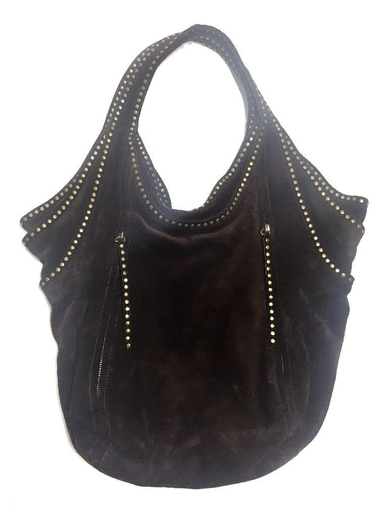 813584968e Kooba Tracy Hobo Bag  Get ready for fall! Rich chocolate brown suede with  brasstone studs. This is a substantial suede bag