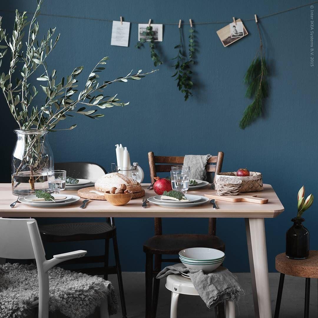 Ikea Sverige On Instagram Julens Naturliga Samlingsplats Ar Garna Lisabo Matbordet I Ask Med Tydlig Trakansla Ikea Inspiration Ikea Table Home Living Room [ 1080 x 1080 Pixel ]