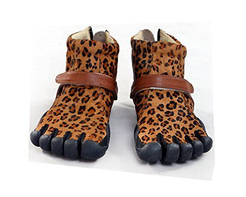 Women's Sexy Leopard Five Fingers Boots Horse Hair Leisure Shoes For Boating Fishing Biking