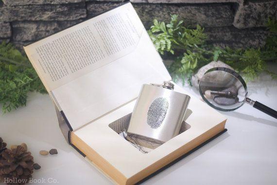 Vintage Hollow Book Safe and Fingerprint Hip Flasku2013 Presumed - presumed innocent book