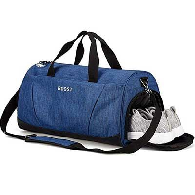 fe3aa9a337c2 Sports Gym Bag with Shoes Compartment for Men and Women