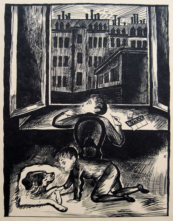 "Conrad Felixmüller, ""Kindheit"""
