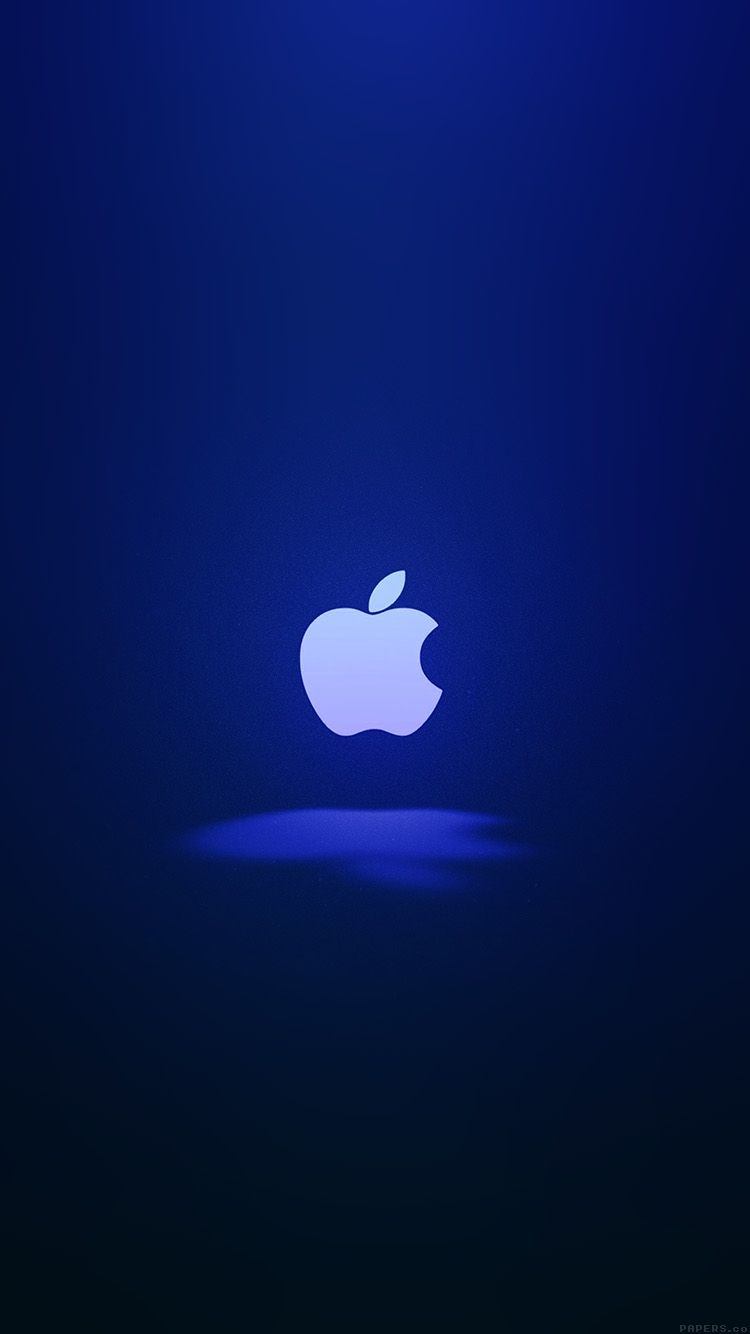 apple logo love mania blue - iphone 6 wallpaper | apple'tite
