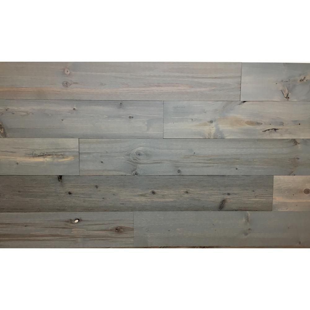 Timberchic Driftwood 4 In Peel And Stick Wall Applique Panels 20 Sq Ft Box Gray Wall Paneling Wood Wall Tiles Driftwood Decor Wall