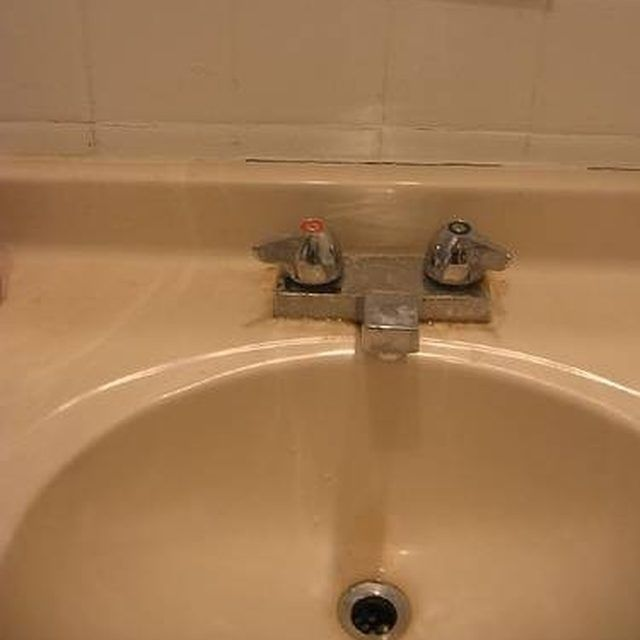 Cultured marble sink in need of refinishing More