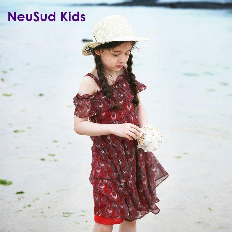 Click To Buy New 2017 Kids Slip Dress Children Summer Off
