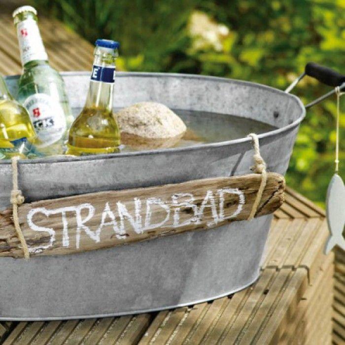 Tolle Idee für eine Gartenparty zum Getränke kühlen. Noch mehr tolle ...