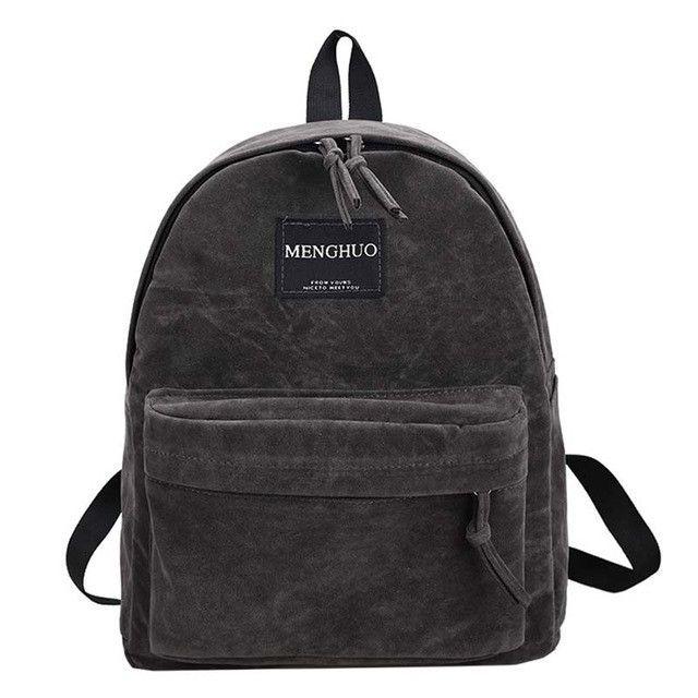 3b299d6e7d MengHuo new Women Backpack youth korean style shoulder bag Solid Vintage  School Bag Backpacks for Teenage