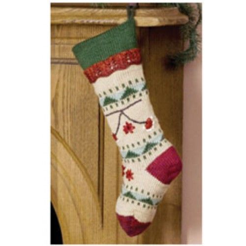 Free Folkways Christmas Stocking Knit Pattern Knit Pinterest