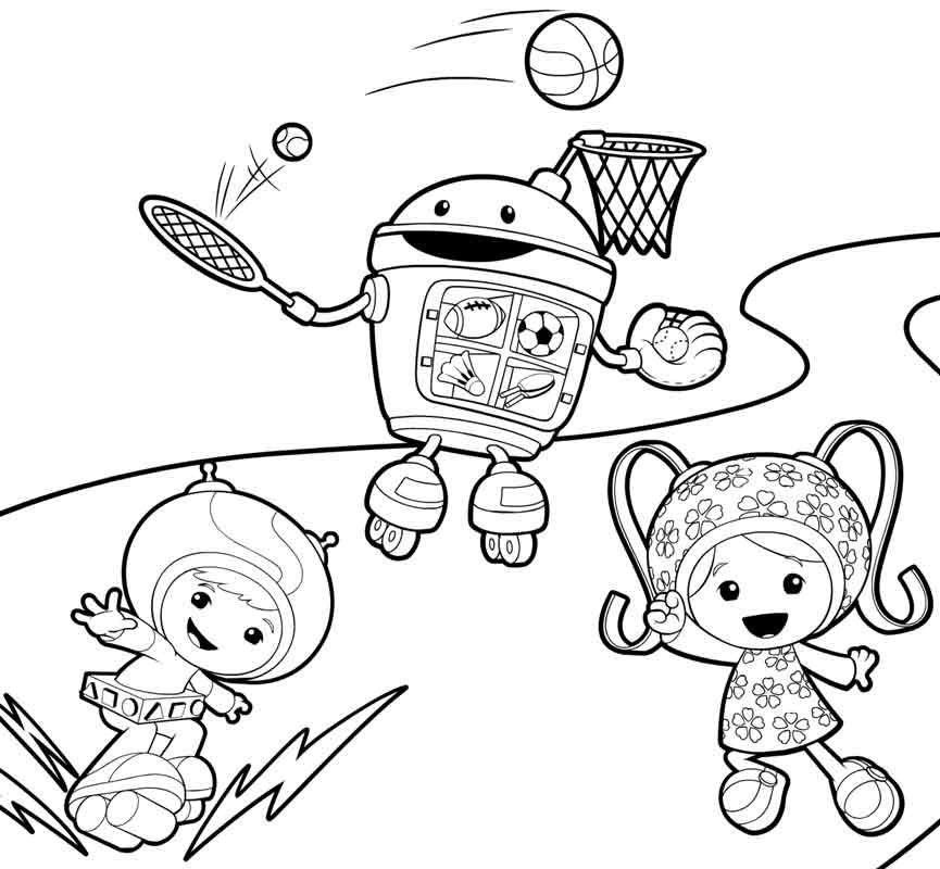 team umizoomi coloring pages | cartoon coloring pages | pinterest ... - Team Umizoomi Bot Coloring Pages