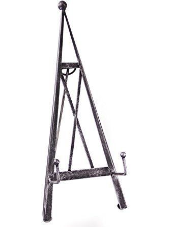 Industrial Style Decorative Plate Stand and Art Holder Easel in Brushed Silver Finish - 17\   sc 1 st  Pinterest & Industrial Style Decorative Plate Stand and Art Holder Easel in ...