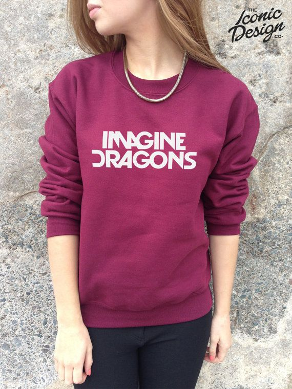 0f79d48d585aa Imagine Dragons Band Jumper Top Sweater Music by TheIconicDesignCo ...