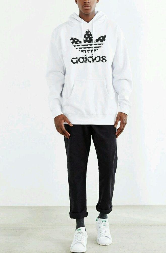 Nuove adidas originali stellato felpa con cappuccio pullover uomini