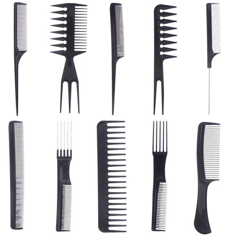 10 יח סט איפור סט מברשת שיער קומבס ערכות שיער חלק מסרק פרו מיישר אנטי סטטי מברשת שיער טיפוח שיער שיער סטיילינג כ Static Hair Hair Care Professional Hairstyles