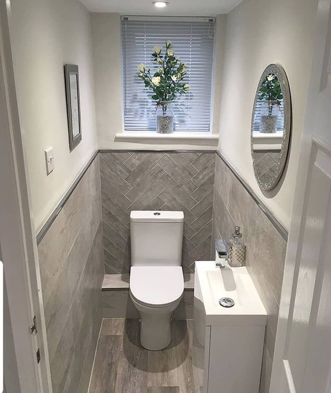 Love This Before After Swipe Swipe By Homeelegance Bylau Homeideasblog Net Toilet Room Decor Small Toilet Room Small Bathroom Makeover